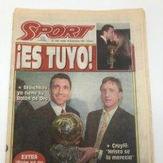 Coleccionismo deportivo: SPORT HRISTO STOICHKOV BALON DE ORO 20 DICIEMBRE 1994 FUTBOL FC BARCELONA BARÇA. Lote 205708853