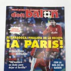 Coleccionismo deportivo: DON BALÓN REAL ZARAGOZA CHELSEA SEMIFINAL RECOPA FC POSTER REAL SOCIEDAD UNZUE. Lote 205713465