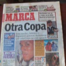 Coleccionismo deportivo: MARCA 26 MAYO 2000 PREVIA FINAL COPA ESPAÑOL ATLETICO MADRID - ANELKA - SIN USAR - ENVIO GRATIS. Lote 205731236