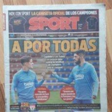 Coleccionismo deportivo: DIARIO SPORT. A POR TODAS. F.C BARCELONA. LIVERPOOL. BARÇA. FUTBOL. 30/4/2019.. Lote 205735267