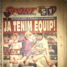 Coleccionismo deportivo: ANTIGUO PERIÓDICO DIARIO FUTBOL DEPORTIVO SPORT BARÇA BARCELONA CAMPEÓN TROFEO GAMPER 24 AGOSTO 199. Lote 205772413