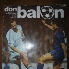 Coleccionismo deportivo: ANTIGUA REVISTA DEPORTIVA DON BALON NUM 325 - 1982 - DERBY REAL MADRID BARCELONA. Lote 205773817