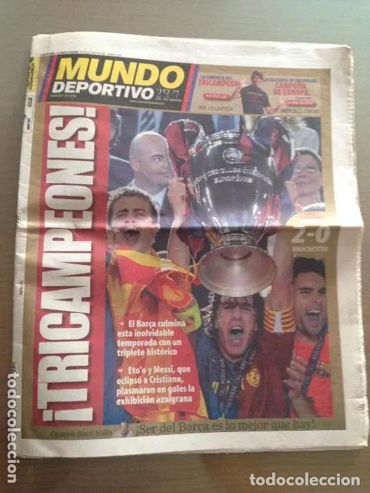 DIARIO MUNDO DEPORTIVO Nº 28041 / 28 DE MAYO 2009 (Coleccionismo Deportivo - Revistas y Periódicos - Mundo Deportivo)