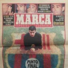 Coleccionismo deportivo: PERIÓDICO DIARIO MARCA 2001 ESPECIAL GUARDIOLA SE RETIRA BARCELONA FUTBOL. Lote 205774576