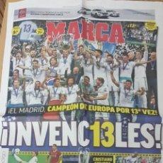 Coleccionismo deportivo: EL REAL MADRID CAMPEÓN DE EUROPA POR 13 VEZ. Lote 205793720