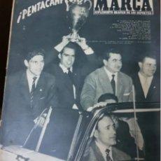 Coleccionismo deportivo: REAL MADRID COPA DE EUROPA . PERIÓDICOS HISTÓRICOS. Lote 205825750