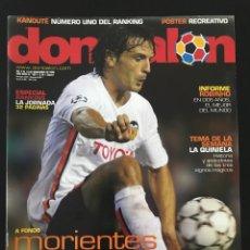 Coleccionismo deportivo: FÚTBOL DON BALÓN 1621 - PÓSTER RECREATIVO - MORIENTES - ROBINHO - ANDRADE - REDONDO - AS MARCA. Lote 205835176