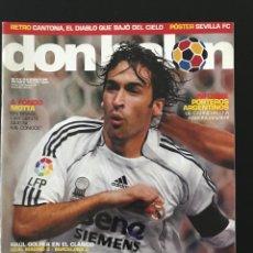 Coleccionismo deportivo: FÚTBOL DON BALÓN 1619 - POSTER SEVILLA - RAÚL - MADRID - BARÇA - CANTONA - CLEMENTE - AS MARCA ALBUM. Lote 205845747