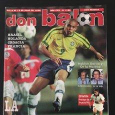 Coleccionismo deportivo: FÚTBOL DON BALÓN 1186 - MUNDIAL FRANCIA '98 - POSTER VIERI - ESPAÑA - OWEN - CAMACHO - BARÇA - AS. Lote 205850601