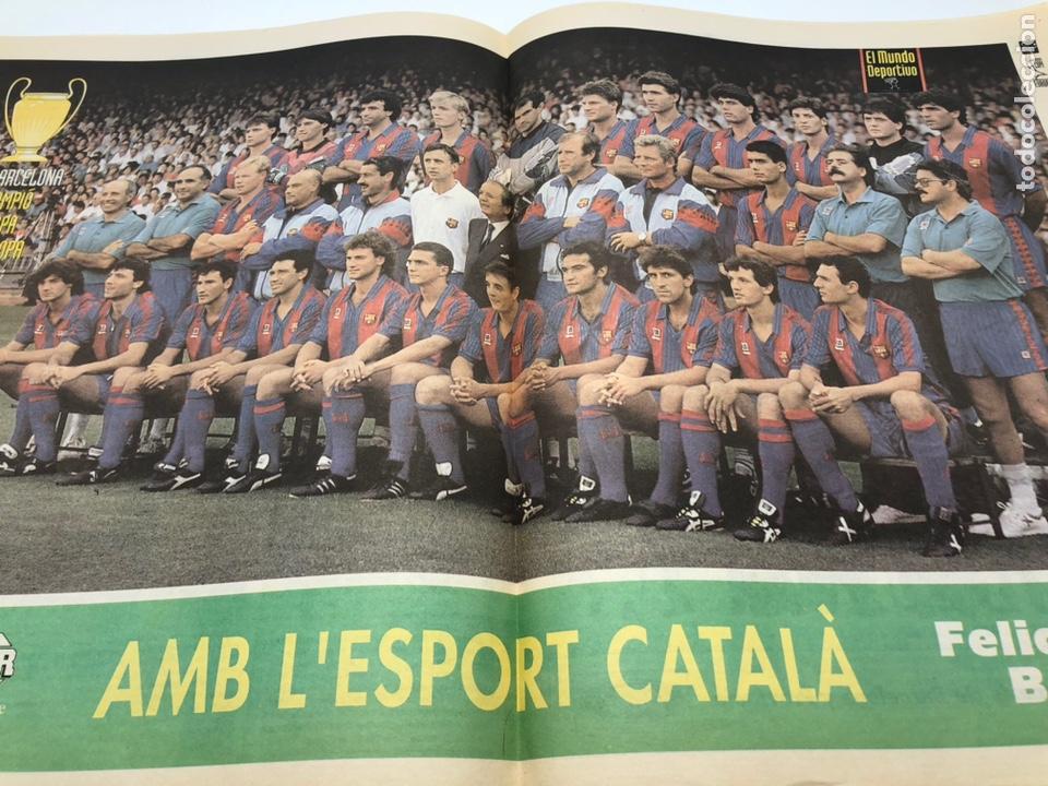 Coleccionismo deportivo: MUNDO DEPORTIDO FINAL COPA DE EUROPA WEMBLEY 92 FC BARCELONA SAMPDORIA POSTER KOEMAN CRUYFF 21 MAYO - Foto 3 - 206135973
