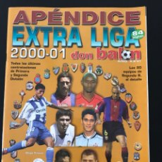 Collectionnisme sportif: FÚTBOL DON BALÓN - APÉNDICE EXTRA LIGA 2000-01 - AS MARCA CROMO SPORT ÁLBUM. Lote 206140501