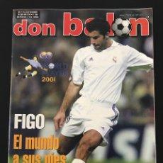 Coleccionismo deportivo: FÚTBOL DON BALÓN 1366 - POSTER ALAVÉS - FIGO - SCHUSTER - ATHLETIC - MARADONA - JEREZ - D. ZAFRA. Lote 206141876