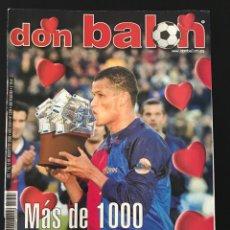 Coleccionismo deportivo: FÚTBOL DON BALÓN 1295 - POSTER M. SILVA DEPOR - RIVALDO - VALLADOLID - MADRID - ATHLETIC - TREZEGUET. Lote 206150133