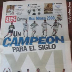 Coleccionismo deportivo: AS ESPECIAL REAL MADRID 2000 LORENZO SANZ - SIN USAR / ENVIO GRTAIS. Lote 206154441