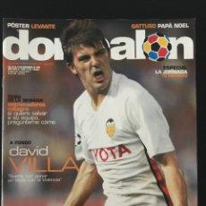 Coleccionismo deportivo: FÚTBOL DON BALÓN 1628 - POSTER LEVANTE - VILLA - BARÇA - ATLÉTICO - PATO - GATTUSO - MANRESA - AS. Lote 206161778