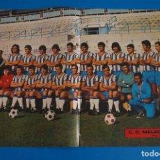Coleccionismo deportivo: POSTER DE FUTBOL DEL MALAGA C.F. DE AS COLOR. Lote 206166770