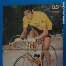 Coleccionismo deportivo: POSTER DE CICLISMO DE LUIS OCAÑA GANADOR TOUR DE FRANCIA 1973 DE AS COLOR. Lote 206168855