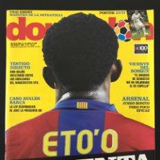 Coleccionismo deportivo: FÚTBOL DON BALÓN 1698 - POSTER GUTI - BARÇA ETO'O - DEL BOSQUE - ALMERIA - SAN LORENZO - ARSENAL. Lote 206248216