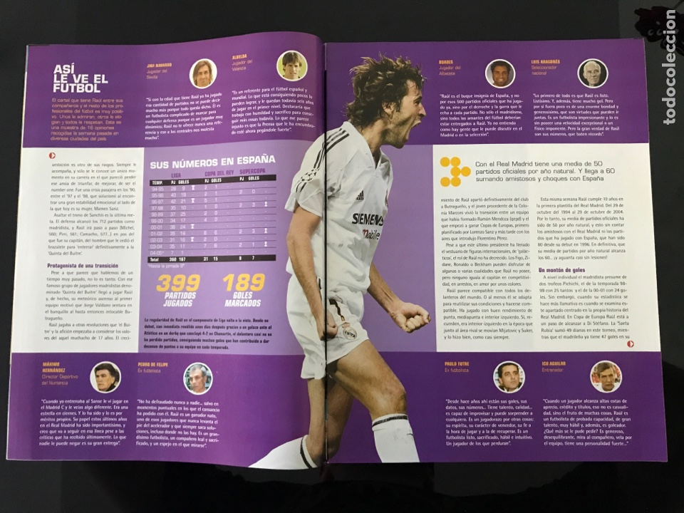 Coleccionismo deportivo: Fútbol don balón 1515 - Poster Albacete - Raúl - Madrid - Forlán - Camerún - Celta - Foto 3 - 206249796