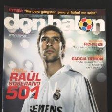 Coleccionismo deportivo: FÚTBOL DON BALÓN 1515 - POSTER ALBACETE - RAÚL - MADRID - FORLÁN - CAMERÚN - CELTA. Lote 206249796