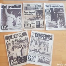 Coleccionismo deportivo: REAL MADRID CLUB DE FUTBOL CAMPEON LOTE DIARIO AS AÑOS 80 GRAN ESTADO Y ORIGINAL. Lote 206255107