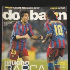 Coleccionismo deportivo: FÚTBOL DON BALÓN 1579 - POSTER SEVILLA - BARCELONA - ALFARO - MARCHENA - COPA ÁFRICA - GIRONA - AS. Lote 206266685