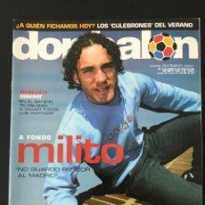 Coleccionismo deportivo: FÚTBOL DON BALÓN 1550 - POSTER FIGUEROA - MILITO - MAKAAY - LEVANTE - CÁDIZ - AS MARCA ÁLBUM CROMO. Lote 206347682