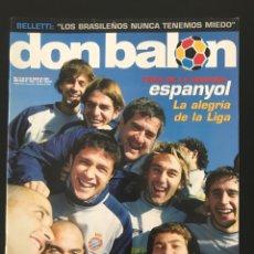 Coleccionismo deportivo: FÚTBOL DON BALÓN 1527 - ESPANYOL - POSTER ATHLETIC - BELLETTI - STOICHKOV - PIQUÉ - ELCHE - AS MARCA. Lote 206350297