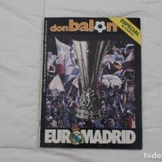 Coleccionismo deportivo: REVISTA DON BALÓN Nº 502 ESPECIAL REAL MADRID CAMPEÓN COPA DE LA UEFA TEMPORADA 84-85 INCLUYE PÓSTER. Lote 206363287