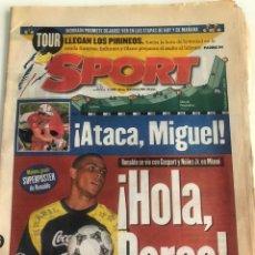 Coleccionismo deportivo: DIARIO SPORT NUMERO 6000 18 DE JULIO DE 1996 FC BARCELONA BARÇA ESPORT RONALDO INDURAIN TOUR FRANCIA. Lote 206395538