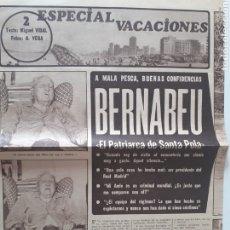 Coleccionismo deportivo: ARTÍCULO AS. AÑOS 70. A MALA PESCA, BUENAS CONFIDENCIAS. BERNABEU, EL PATRIARCA DE SANTA POLA.. Lote 206539796