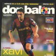 Coleccionismo deportivo: FÚTBOL DON BALÓN 1667 - POSTER SILVA - XAVI BARÇA - RAÚL MADRID - VALLADOLID - CAMP NOU - NÁPOLES. Lote 206557760