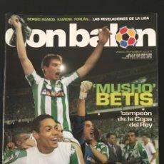 Coleccionismo deportivo: FÚTBOL DON BALÓN 1548 - ESPECIAL BETIS CAMPEÓN COPA POSTER - ESPAÑA - FRED - AS MARCA ALBUM CROMO. Lote 206559897