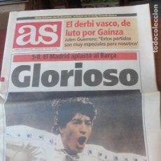Coleccionismo deportivo: DIARIO AS 8 ENERO 1995 / REAL MADRID 5 - BARÇA 0 / VALDANO ZAMORANO LUIS ENRIQUE - ENVIO GRATIS. Lote 206568131