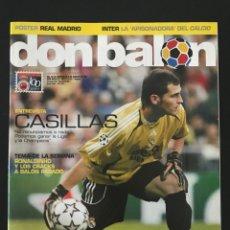 Coleccionismo deportivo: FÚTBOL DON BALÓN 1637 - POSTER MADRID - CASILLAS - GÜIZA - HERBERGER - INTER - LUCIO - AS MARCA. Lote 206569792
