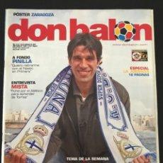 Coleccionismo deportivo: FÚTBOL DON BALÓN 1635 - POSTER ZARAGOZA - VALERÓN - NASTIC - SEVILLA - ESPAÑA - SEGARRA - ROSARIO. Lote 206570638