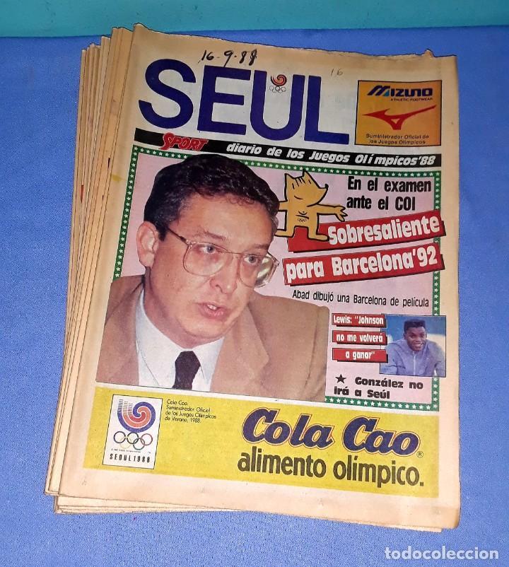 IMPORTANTE DOCUMENTO GRAFICO OLIMPIADA DE SEUL 88 DIARIO SPORT COMPLETA EN MUY BUEN ESTADO (Coleccionismo Deportivo - Revistas y Periódicos - Sport)