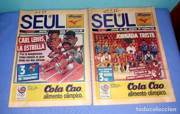 Coleccionismo deportivo: IMPORTANTE DOCUMENTO GRAFICO OLIMPIADA DE SEUL 88 DIARIO SPORT COMPLETA EN MUY BUEN ESTADO - Foto 3 - 206769146