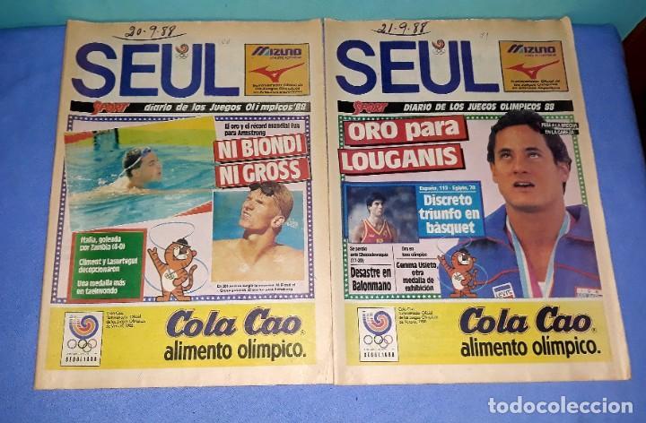 Coleccionismo deportivo: IMPORTANTE DOCUMENTO GRAFICO OLIMPIADA DE SEUL 88 DIARIO SPORT COMPLETA EN MUY BUEN ESTADO - Foto 4 - 206769146