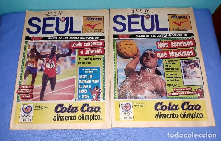 Coleccionismo deportivo: IMPORTANTE DOCUMENTO GRAFICO OLIMPIADA DE SEUL 88 DIARIO SPORT COMPLETA EN MUY BUEN ESTADO - Foto 5 - 206769146