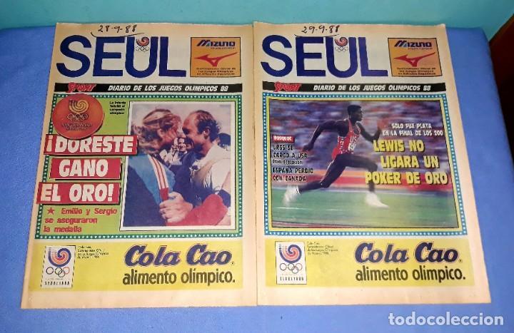 Coleccionismo deportivo: IMPORTANTE DOCUMENTO GRAFICO OLIMPIADA DE SEUL 88 DIARIO SPORT COMPLETA EN MUY BUEN ESTADO - Foto 8 - 206769146