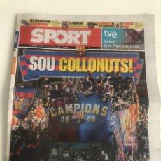 Coleccionismo deportivo: DIARIO SPORT 29 MAYO 2009 FC BARCELONA CELEBRACION CHAMPIONS LEAGUE 2009 ROMA ALBUM TRIPLET. Lote 206778558