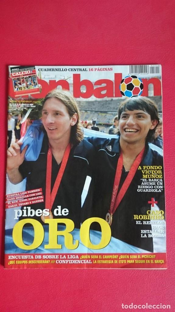 RP REVISTA FUTBOL DON BALON MESSI KUN AGÜERO ARGENTINA (Coleccionismo Deportivo - Revistas y Periódicos - Don Balón)