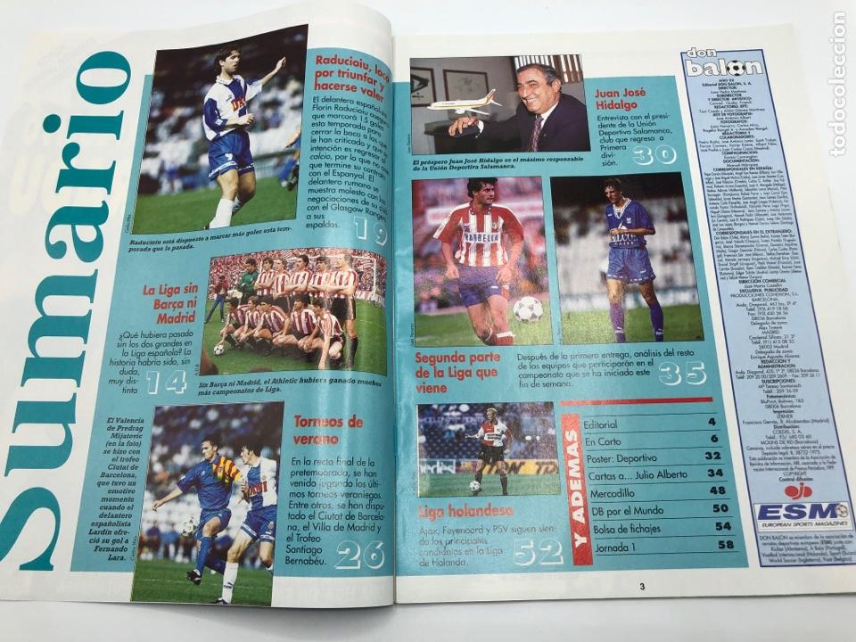 Coleccionismo deportivo: REVISTA DON BALON NÚMERO 1038 SEPTIEMBRE 1995 POSTER DEPORTIVO CAMPEON SUPERCOPA RADUCIOIU ESPAÑOL - Foto 2 - 206970965