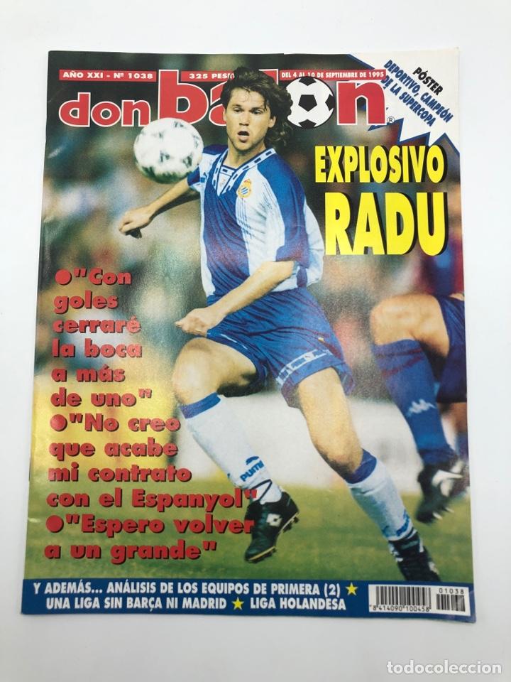 REVISTA DON BALON NÚMERO 1038 SEPTIEMBRE 1995 POSTER DEPORTIVO CAMPEON SUPERCOPA RADUCIOIU ESPAÑOL (Coleccionismo Deportivo - Revistas y Periódicos - Don Balón)