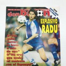 Coleccionismo deportivo: REVISTA DON BALON NÚMERO 1038 SEPTIEMBRE 1995 POSTER DEPORTIVO CAMPEON SUPERCOPA RADUCIOIU ESPAÑOL. Lote 206970965