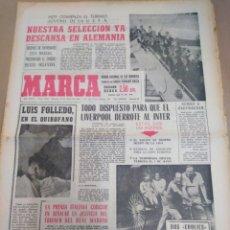 Coleccionismo deportivo: MARCA-15/4/65-EL LIVERPOOL DISPUESTO A DERROTAR AL ÍNTER,COPA FERIAS LA JUVENTUS SEMIFINALISTA,. Lote 206999700