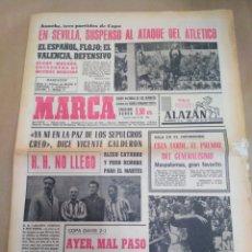 Coleccionismo deportivo: MARCA-26/5/68-REPORTAGE TRASERO EL MADRID CAMPEON DE CAMPEONES,MIÉRCOLES MANCHESTER-BENFICA FINAL CO. Lote 207003652
