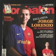 Coleccionismo deportivo: FÚTBOL DON BALÓN 1741 - POSTER RAÚL - LORENZO - RONALDO - COPAS EUROPEAS - ROBINHO - AS MARCA. Lote 207022206