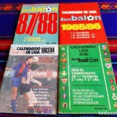 Coleccionismo deportivo: CALENDARIO DE LIGA DON BALÓN 81 82, 1983 84, 1985 86 Y 87 88. SIN ESCRITOS. RAROS.. Lote 207076707